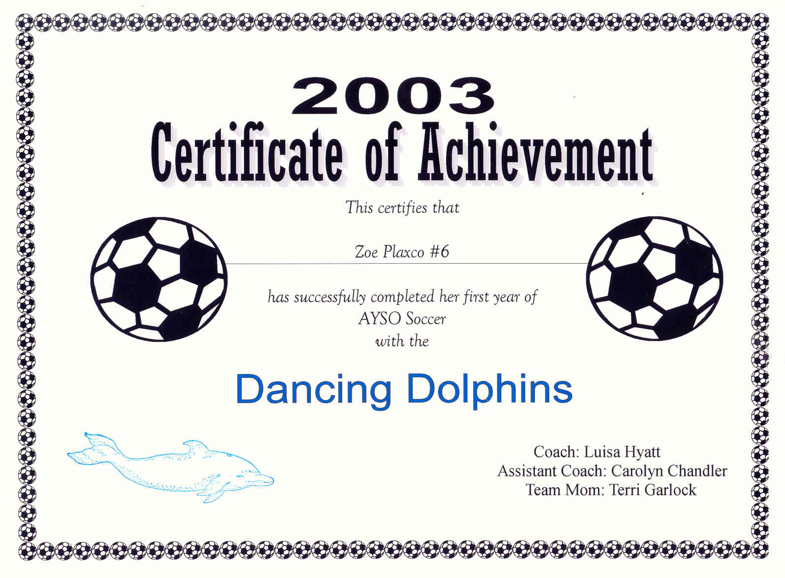 Printable soccer award northurthwall printable soccer award yelopaper Image collections